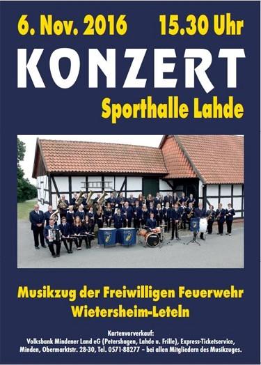 Einladung 2016 Jahreskonzert Musikzug FF Wietersheim-Leteln