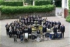 Gruppenbild Musikzug Wietersheim Schloß Petershagen