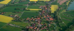 Dorf Wietersheim- Luftbild Lange und Straße Bachstraße