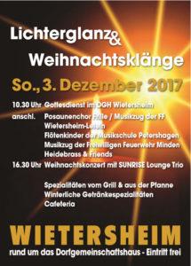 Musikveranstaltung am DGH im Winter 2017